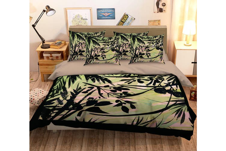 3D Oil Painting Leaves 067 Bed Pillowcases Quilt Duvet Cover Bedding Set Quilt Cover Quilt Duvet Cover, Queen
