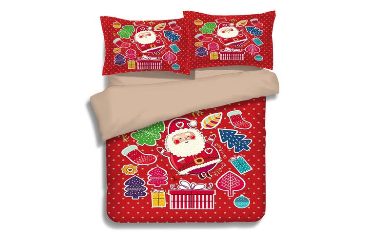 3D Merry Christmas 061 Bed Pillowcases Quilt Duvet Cover Bedding Set Quilt Cover Quilt Duvet Cover, King Single