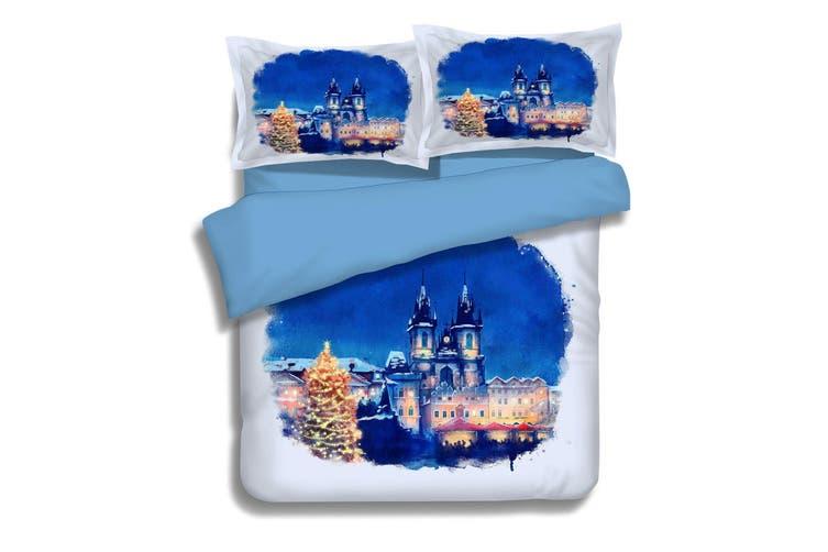 3D Blue Sky Castle 060 Bed Pillowcases Quilt Duvet Cover Bedding Set Quilt Cover Quilt Duvet Cover, Queen