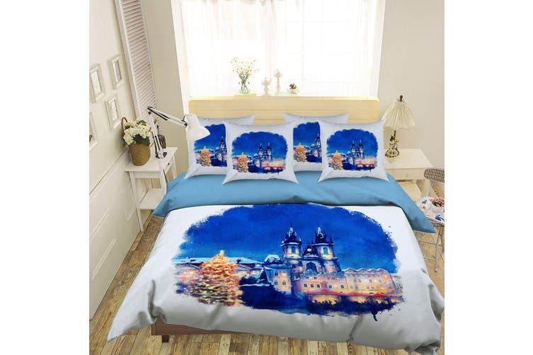3D Blue Sky Castle 060 Bed Pillowcases Quilt Duvet Cover Bedding Set Quilt Cover Quilt Duvet Cover, King