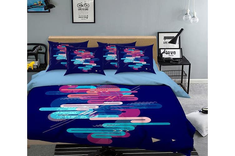 3D Black Line 058 Bed Pillowcases Quilt Duvet Cover Bedding Set Quilt Cover Quilt Duvet Cover, King Single