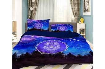 3D Meteor Lion 057 Bed Pillowcases Quilt Duvet Cover Bedding Set Quilt Cover Quilt Duvet Cover, Queen