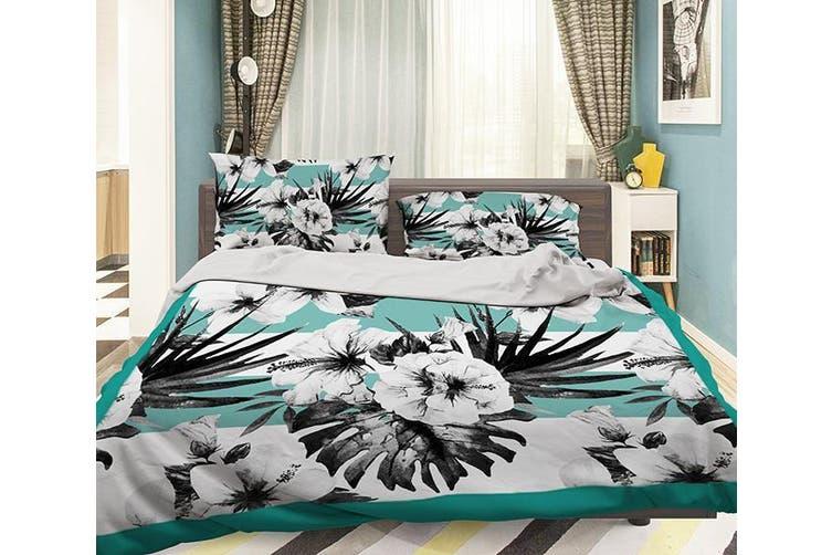 3D Black Flower 054 Bed Pillowcases Quilt Duvet Cover Bedding Set Quilt Cover Quilt Duvet Cover, Queen