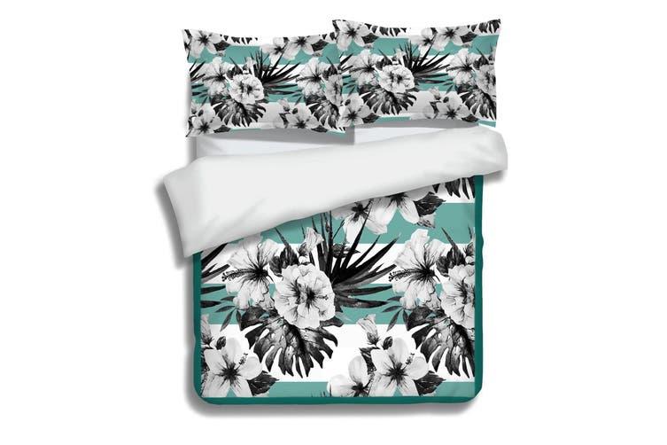 3D Black Flower 054 Bed Pillowcases Quilt Duvet Cover Bedding Set Quilt Cover Quilt Duvet Cover, King