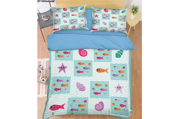3D Small Starfish 053 Bed Pillowcases Quilt Duvet Cover Bedding Set Quilt Cover Quilt Duvet Cover, Queen