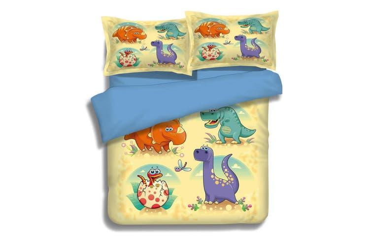 3D Dinosaur Cartoon 051 Bed Pillowcases Quilt Duvet Cover Bedding Set Quilt Cover Quilt Duvet Cover, Queen