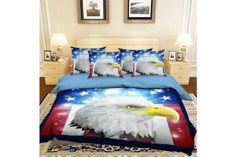 3D Eagle Head 045 Bed Pillowcases Quilt Duvet Cover Bedding Set Quilt Cover Quilt Duvet Cover, King Single