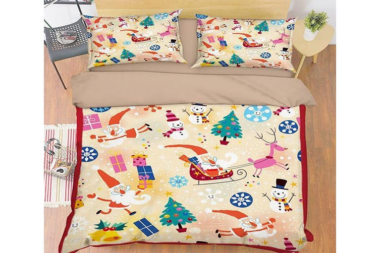 3D Little Snowman 008 Bed Pillowcases Quilt Duvet Cover Bedding Set Quilt Cover Quilt Duvet Cover, King