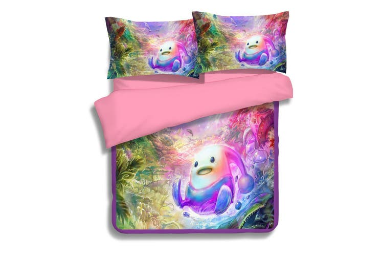 3D Cartoon Alien 003 Bed Pillowcases Quilt Duvet Cover Bedding Set Quilt Cover Quilt Duvet Cover, King Single