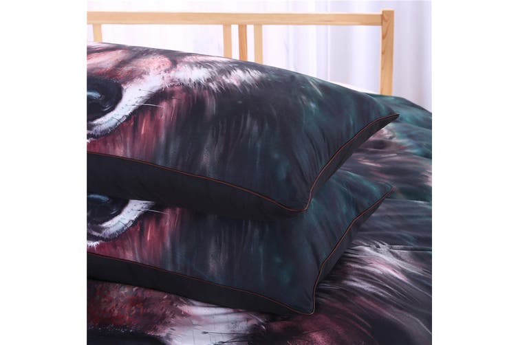 3D Oil Painting Wolf 222 Bed Pillowcases Quilt Duvet Cover Bedding Set Quilt Cover Quilt Duvet Cover, King Single