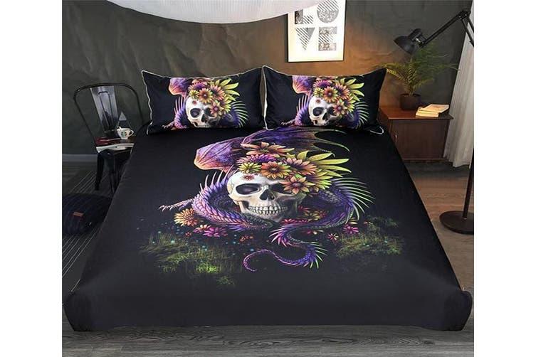 3D Shaped Bone 219 Bed Pillowcases Quilt Duvet Cover Bedding Set Quilt Cover Quilt Duvet Cover, King Single