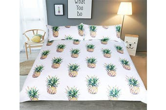 3D Small Pineappler 211 Bed Pillowcases Quilt Duvet Cover Bedding Set Quilt Cover Quilt Duvet Cover, King Single