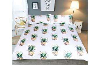 3D Small Pineappler 211 Bed Pillowcases Quilt Duvet Cover Bedding Set Quilt Cover Quilt Duvet Cover, Queen