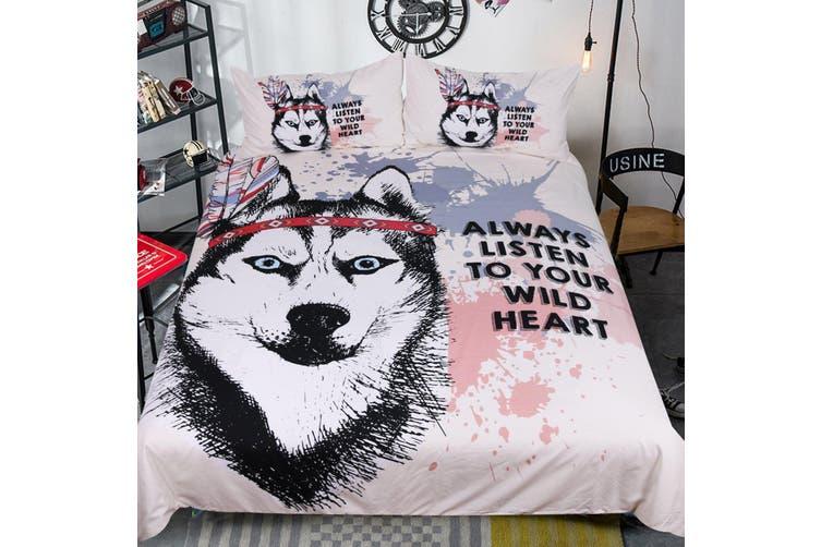 3D Wolf Head 204 Bed Pillowcases Quilt Duvet Cover Bedding Set Quilt Cover Quilt Duvet Cover, King Single