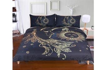 3D Moon And Sun 202 Bed Pillowcases Quilt Duvet Cover Bedding Set Quilt Cover Quilt Duvet Cover, King