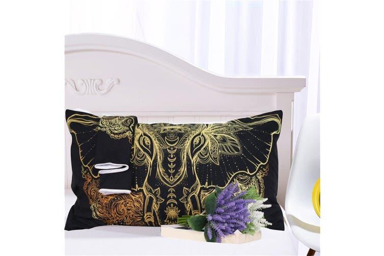3D Elephant Head Mandala 198 Bed Pillowcases Quilt Duvet Cover Bedding Set Quilt Cover Quilt Duvet Cover, King Single