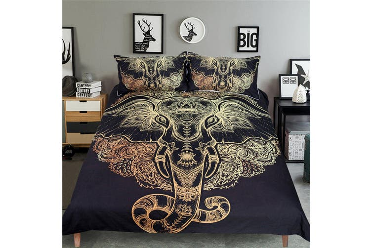 3D Elephant Head Mandala 198 Bed Pillowcases Quilt Duvet Cover Bedding Set Quilt Cover Quilt Duvet Cover, Queen