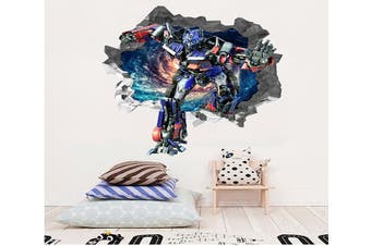 3D Space Transformers 85 Broken Wall Murals Heavy Duty Vinyl(Up To 5 Years)