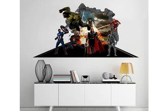 3D The Avengers 78 Broken Wall Murals Heavy Duty Vinyl(Up To 5 Years)