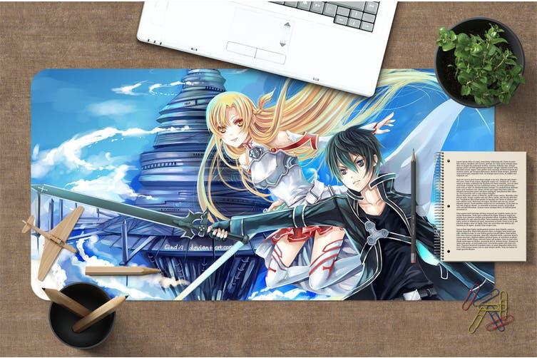 3D Sword Art Online 332 Anime Desk Mat, W90cmxH40cm(35''x18'')