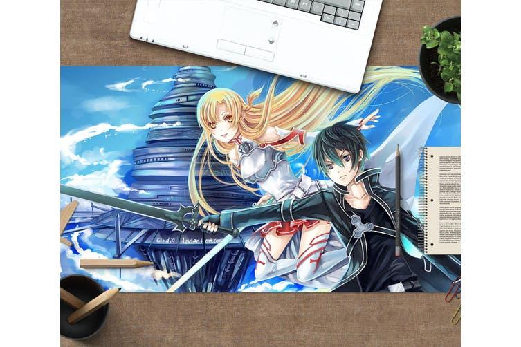 3D Sword Art Online 332 Anime Desk Mat, W120cmxH60cm(47''x24'')