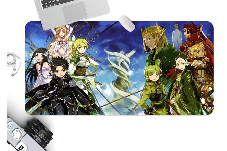 3D Sword Art Online 327 Anime Desk Mat, W60cmxH30cm(24''x12'')