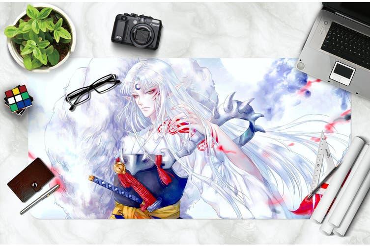 3D Inuyasha 309 Anime Desk Mat, W90cmxH40cm(35''x18'')