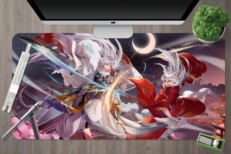 3D Inuyasha 307 Anime Desk Mat, W90cmxH40cm(35''x18'')