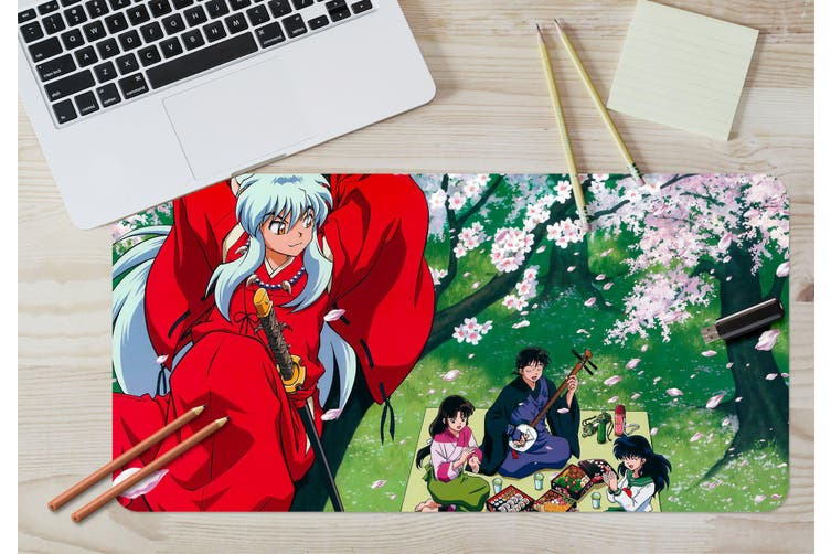 3D Inuyasha 302 Anime Desk Mat, W90cmxH40cm(35''x18'')