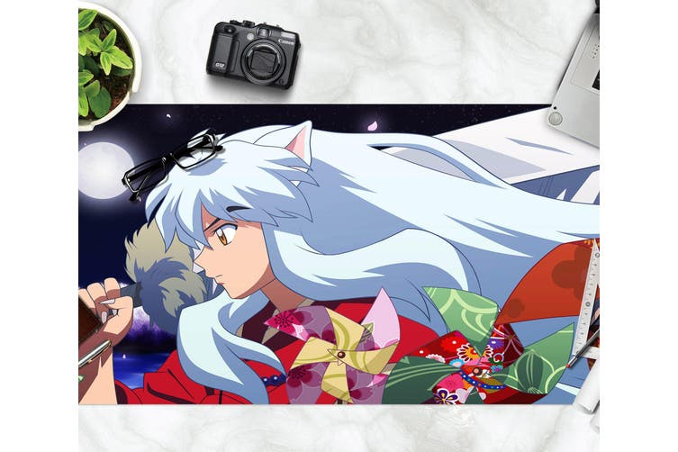 3D Inuyasha 298 Anime Desk Mat, W90cmxH40cm(35''x18'')