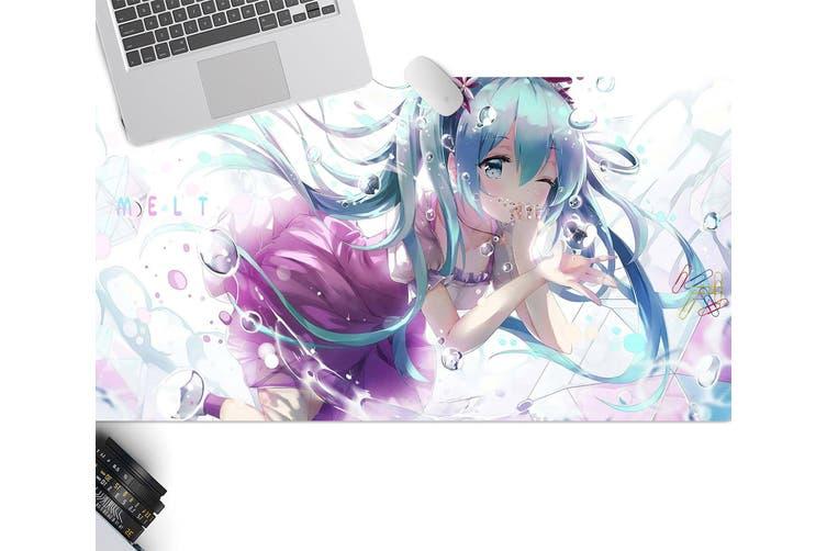 3D Hatsune Miku 294 Anime Desk Mat, W60cmxH30cm(24''x12'')