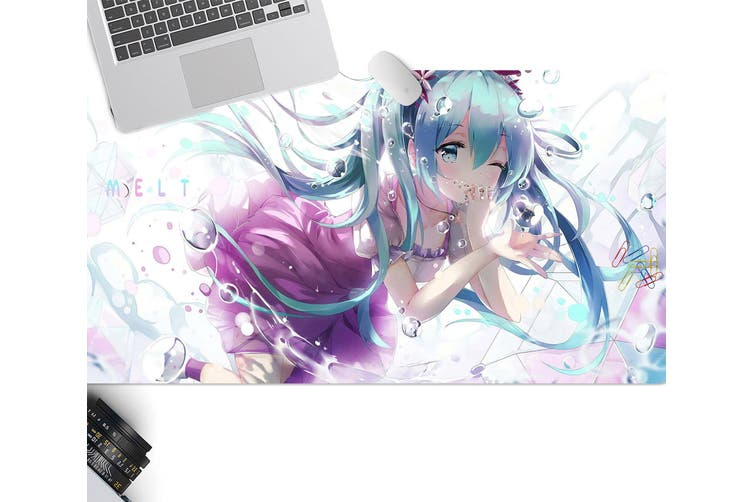 3D Hatsune Miku 294 Anime Desk Mat, W90cmxH40cm(35''x18'')