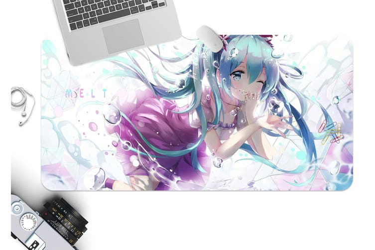 3D Hatsune Miku 294 Anime Desk Mat, W120cmxH60cm(47''x24'')