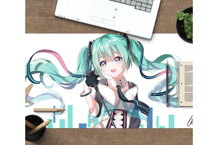 3D Hatsune Miku 289 Anime Desk Mat, W80cmxH40cm(21''x16'')
