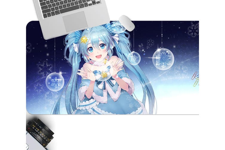 3D Hatsune Miku 287 Anime Desk Mat, W90cmxH40cm(35''x18'')