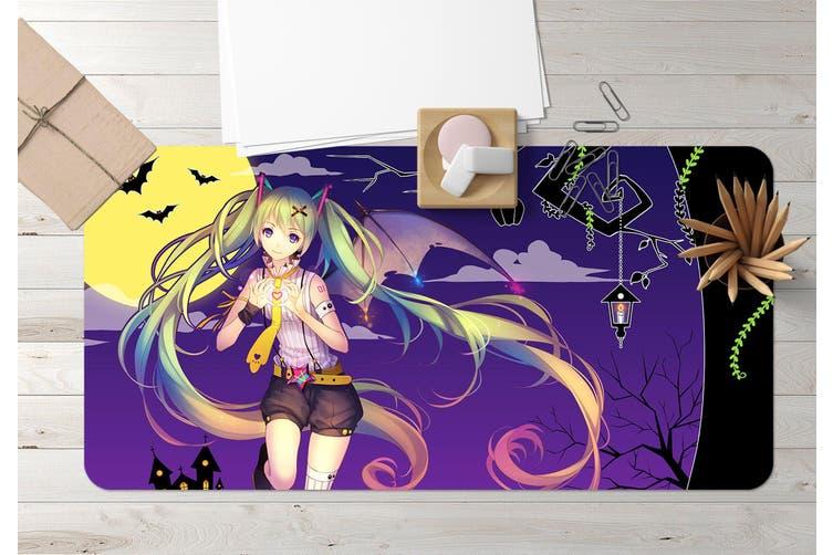 3D Hatsune Miku 284 Anime Desk Mat, W60cmxH30cm(24''x12'')