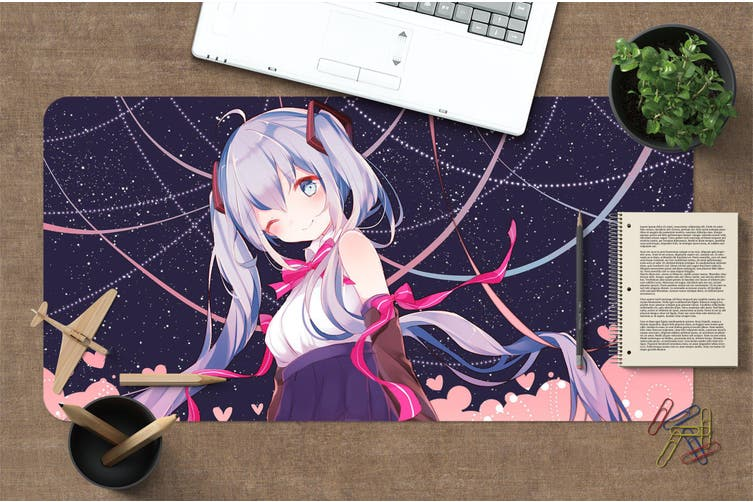 3D Hatsune Miku 278 Anime Desk Mat, W120cmxH60cm(47''x24'')