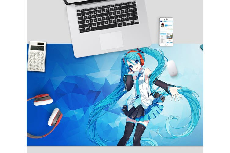 3D Hatsune Miku 277 Anime Desk Mat, W120cmxH60cm(47''x24'')