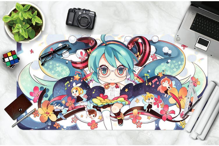 3D Hatsune Miku 274 Anime Desk Mat, W60cmxH30cm(24''x12'')