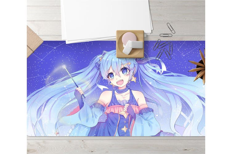 3D Hatsune Miku 272 Anime Desk Mat, W90cmxH40cm(35''x18'')