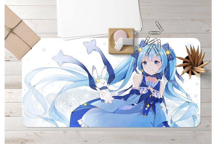 3D Hatsune Miku 270 Anime Desk Mat, W60cmxH30cm(24''x12'')