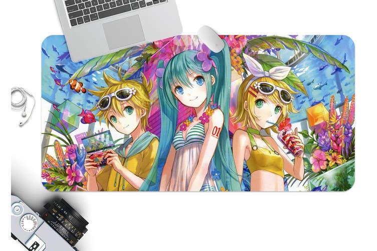 3D Hatsune Miku 268 Anime Desk Mat, W60cmxH30cm(24''x12'')