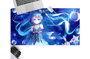 3D Hatsune Miku 267 Anime Desk Mat, W60cmxH30cm(24''x12'')