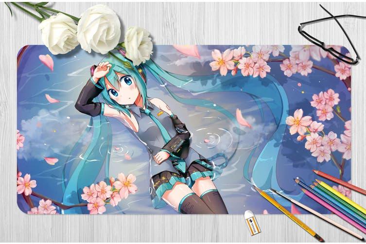 3D Hatsune Miku 265 Anime Desk Mat, W60cmxH30cm(24''x12'')