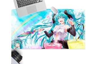 3D Hatsune Miku 262 Anime Desk Mat, W80cmxH40cm(21''x16'')
