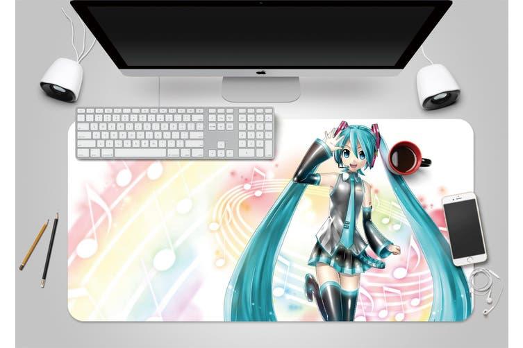 3D Hatsune Miku 261 Anime Desk Mat, W90cmxH40cm(35''x18'')