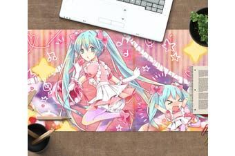 3D Hatsune Miku 258 Anime Desk Mat, W60cmxH30cm(24''x12'')