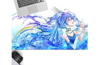 3D Hatsune Miku 256 Anime Desk Mat, W60cmxH30cm(24''x12'')