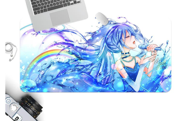 3D Hatsune Miku 256 Anime Desk Mat, W80cmxH40cm(21''x16'')