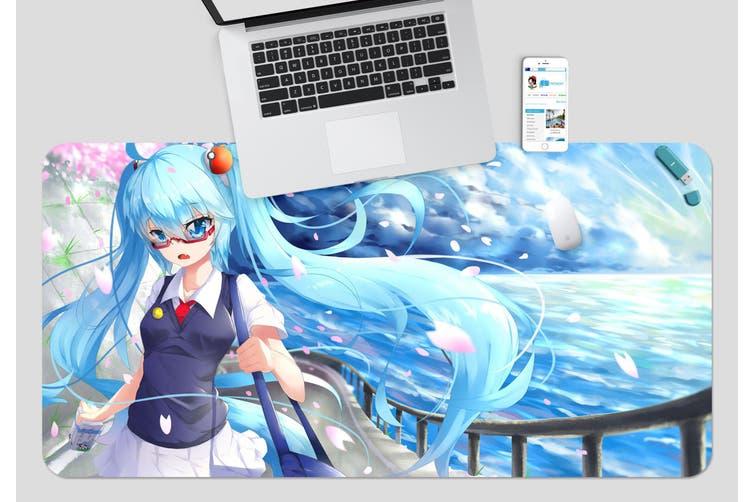 3D Hatsune Miku 250 Anime Desk Mat, W60cmxH30cm(24''x12'')